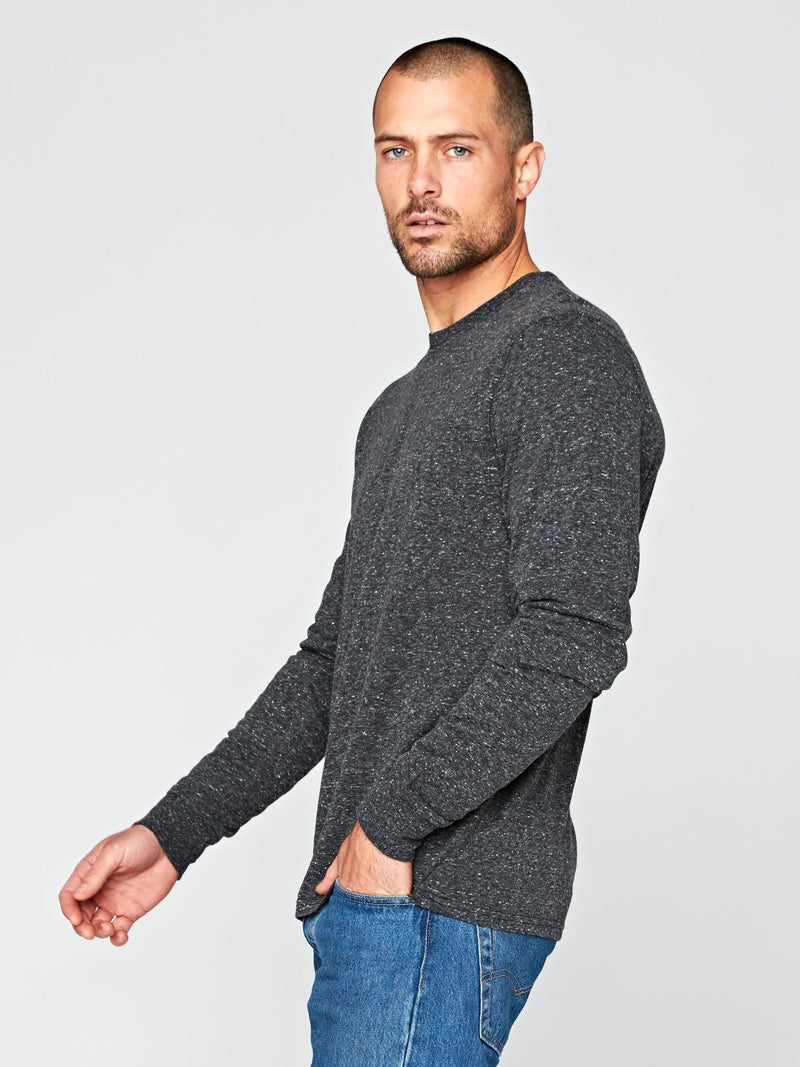 Long Sleeve Triblend Crew Mens Tops Threads 4 Thought