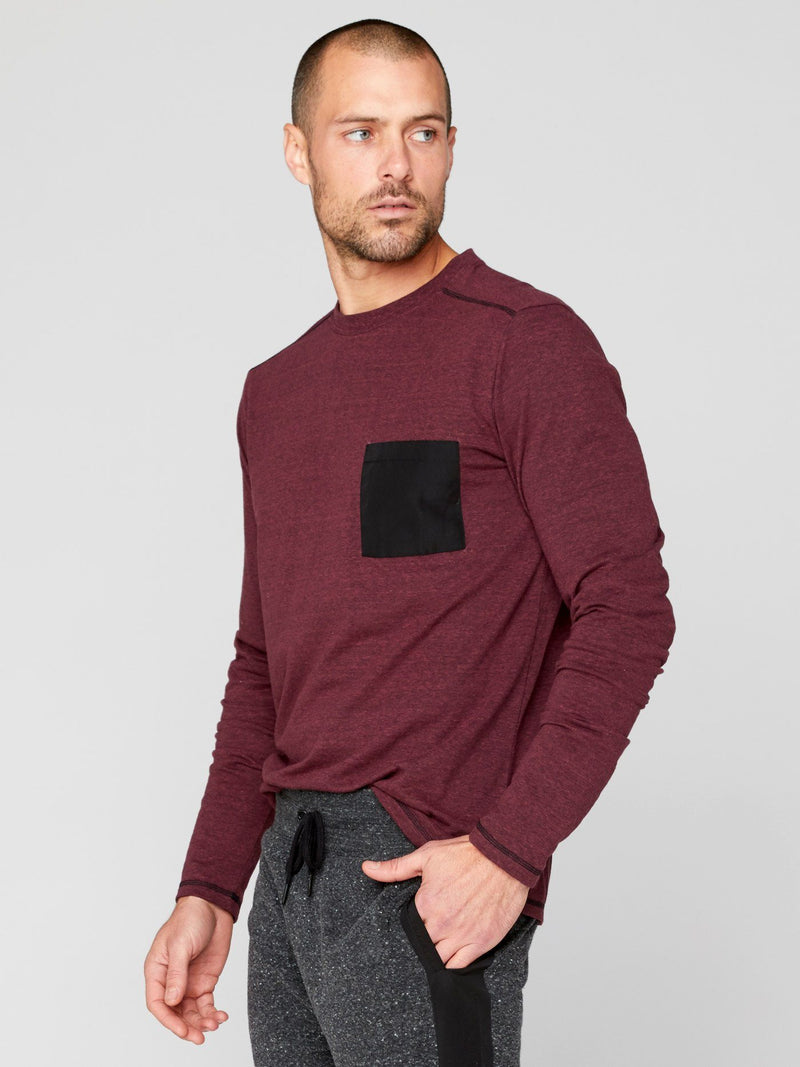 Victor Long Sleeve Pocket Tee Mens Tops Threads 4 Thought