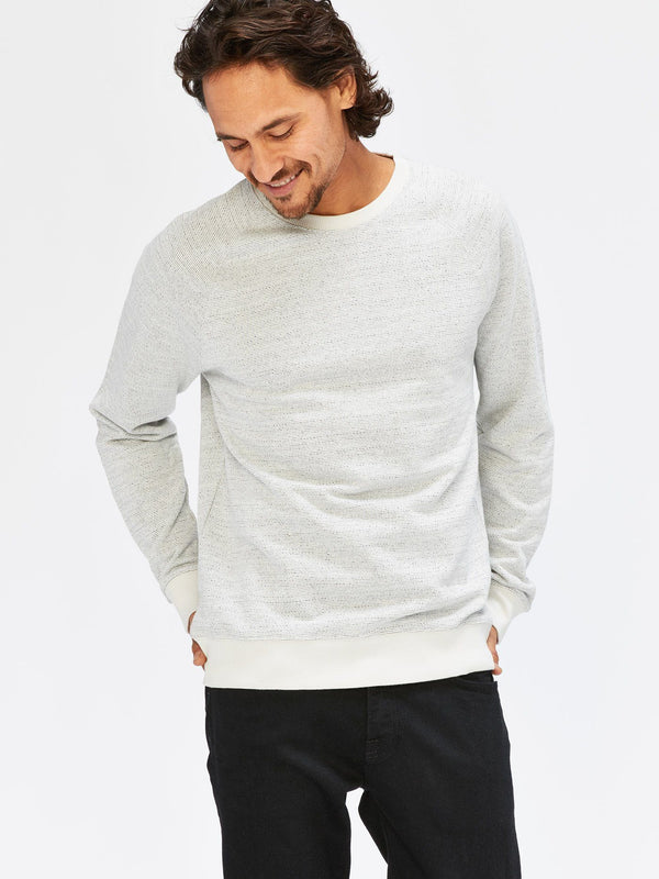 Striated Terry Raglan Sweatshirt Mens Outerwear Sweatshirt Threads 4 Thought