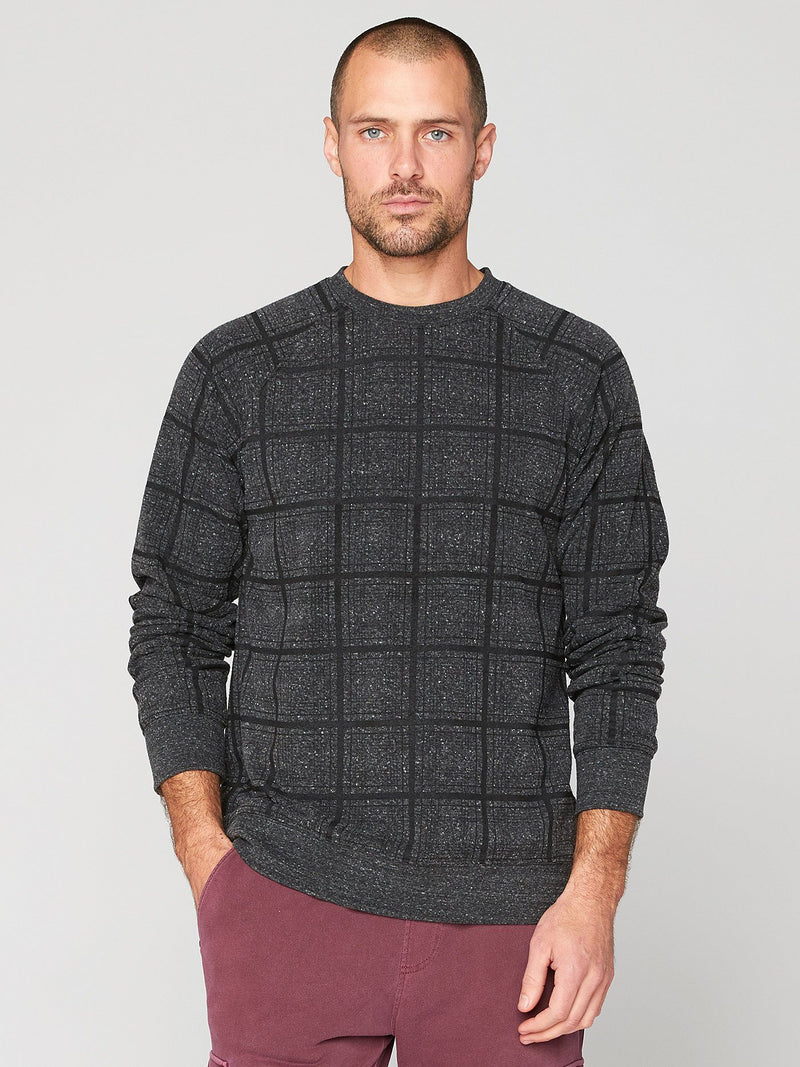 El Paso Plaid Print Sweatshirt Mens Outerwear Sweatshirt Threads 4 Thought S Heather Black