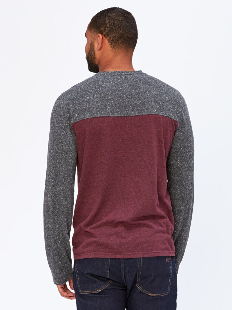 Long Sleeve Contrast Yoke Tee Mens Tops Threads 4 Thought