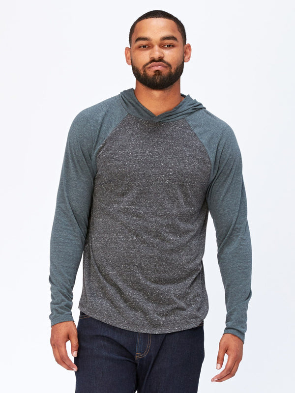 Contrast Raglan T-Shirt Hoodie Mens Tops Threads 4 Thought S Heather Black / Gunmetal
