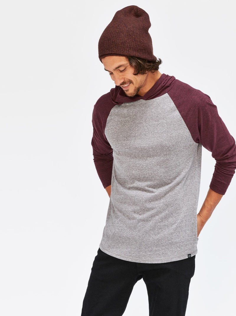 Contrast Raglan T-Shirt Hoodie Mens Tops Threads 4 Thought