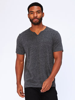 Notched Triblend Tee Mens Tops Threads 4 Thought L Heather Black