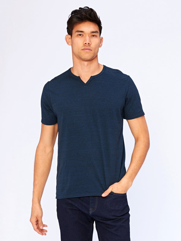 Notched Triblend Tee Mens Tops Threads 4 Thought L Midnight