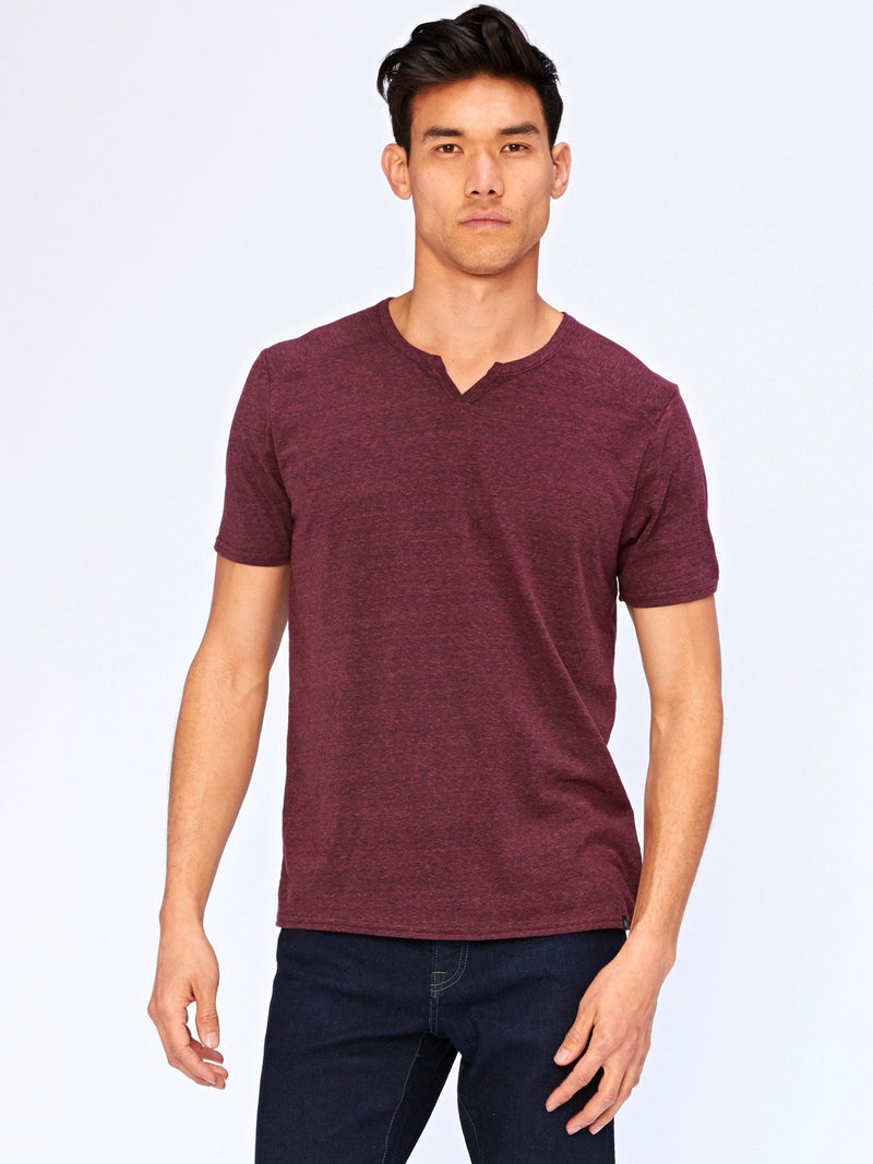 Notched Triblend Tee Mens Tops Threads 4 Thought L Maroon Rust