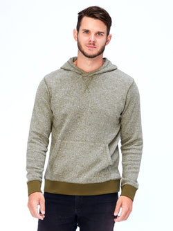 Brushed Knit Pullover Hoodie Mens Outerwear Sweatshirt Threads 4 Thought S Ranger Green