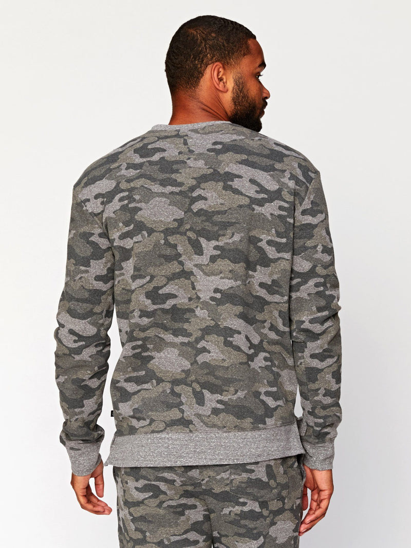 Brooks Camo Triblend Pullover Mens Outerwear Sweatshirt Threads 4 Thought