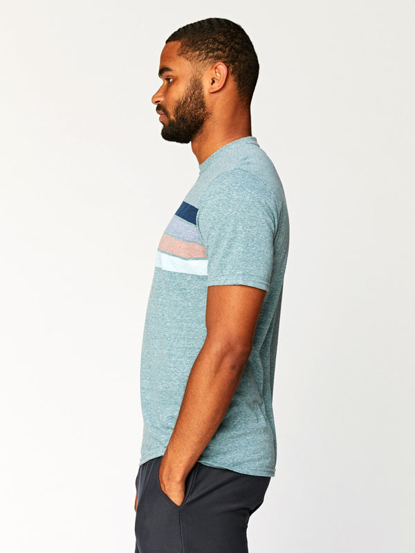 Clean Four Stripe Crew Tee Mens Tops Threads 4 Thought