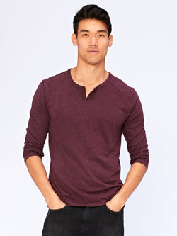 Jenson Notch Neck Long Sleeve Mens Tops Threads 4 Thought