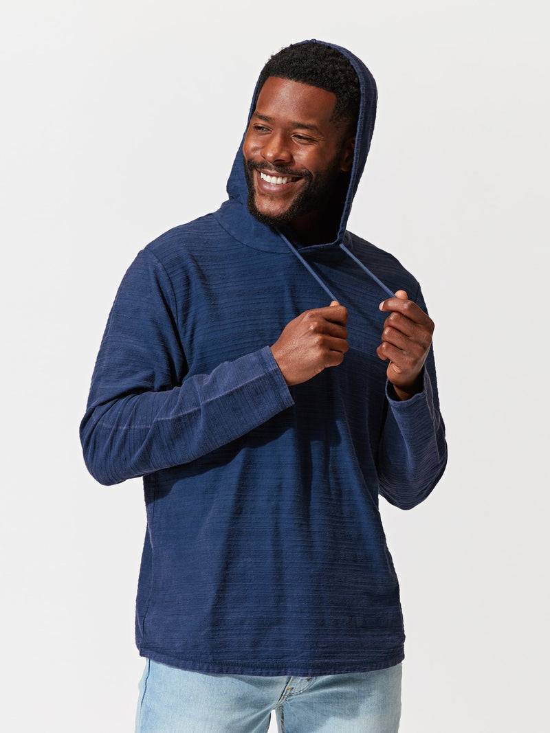 Hoyt Stripe Pullover Hoodie Mens Outerwear Sweater Threads 4 Thought