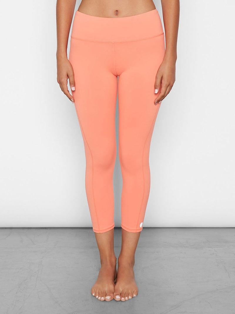 Half Lotus Crop Womens Bottoms Leggings Threads 4 Thought XS Peach