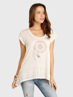 Alyssa Dreamcatcher Tee Womens Tops Threads 4 Thought XS PORCELAIN