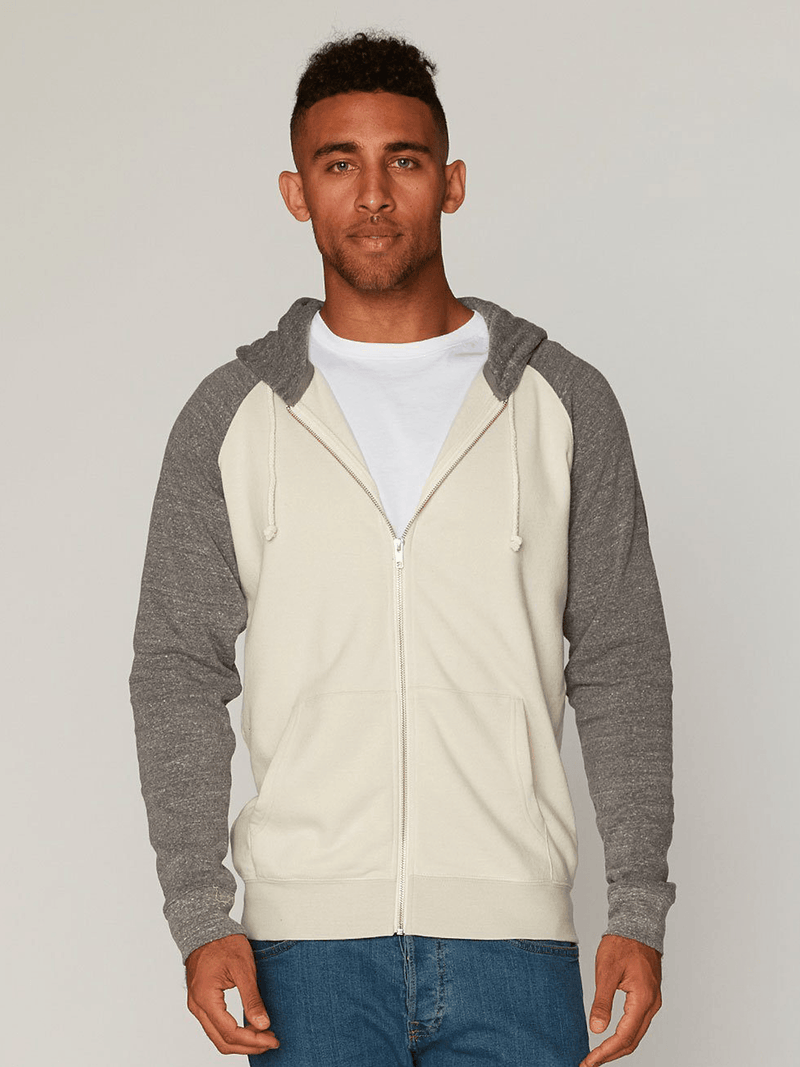 Malibu Zip Front Hoodie Mens Outerwear Sweatshirt Threads 4 Thought