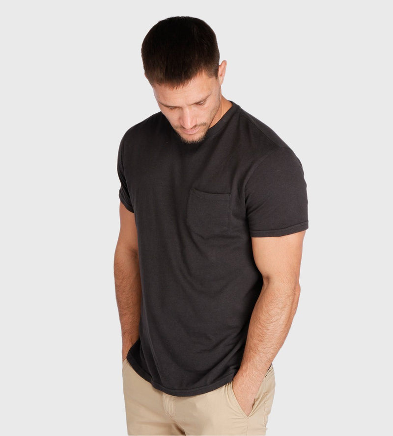 S/S Pocket Crew Tee Mens Tops Threads 4 Thought s Black