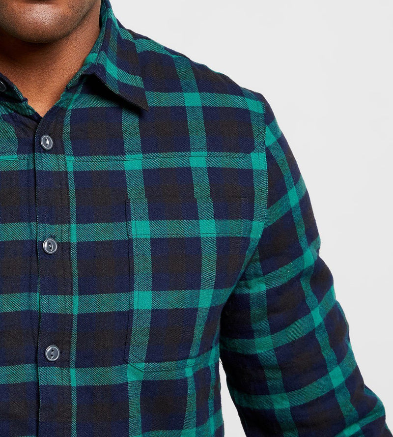 Green Navy Sherpa Shirt