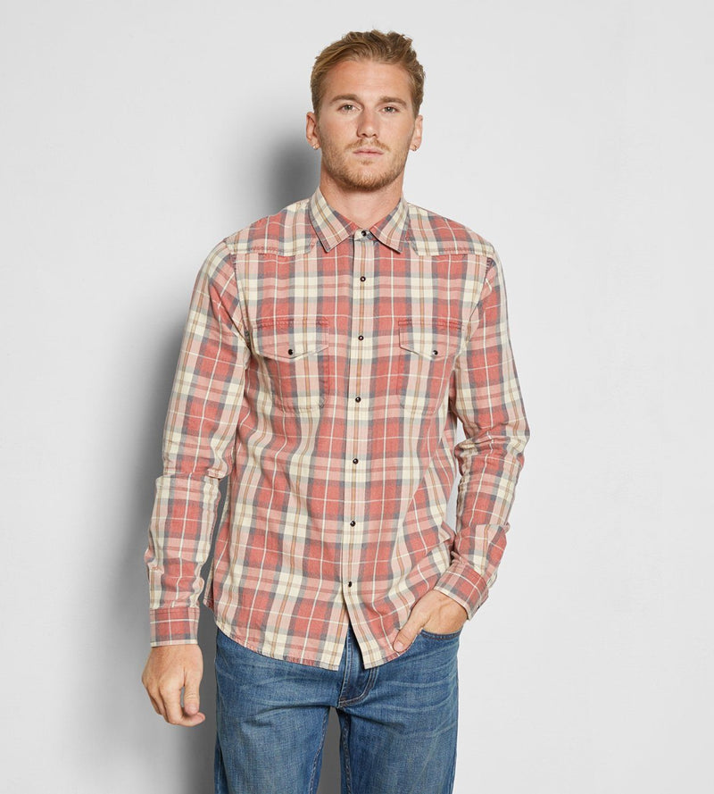 Austin Shirt Mens Tops Threads 4 Thought s Red Plaid