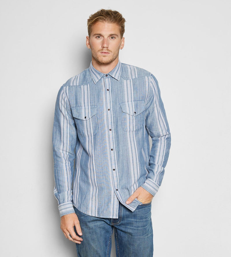 Austin Shirt Mens Tops Threads 4 Thought s Blue Stripe