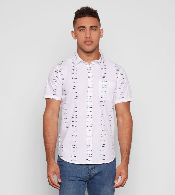 Standard S/S Shirt Mens Tops Threads 4 Thought s White Dots