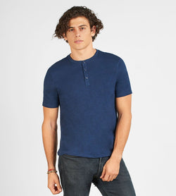 Short Sleeve Henley Mens Tops Threads 4 Thought s Dark Berry