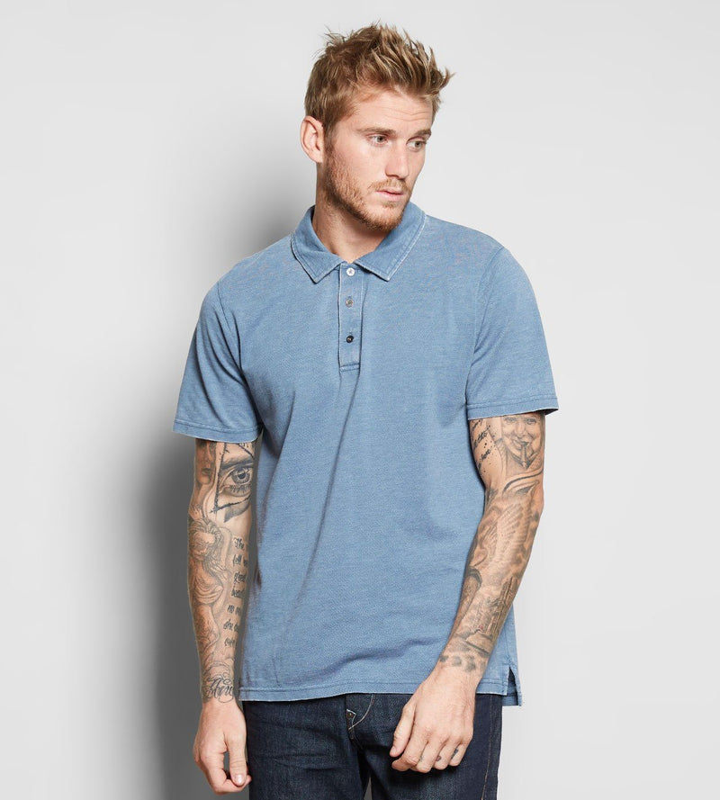Blake Polo Mens Tops Threads 4 Thought s China Blue