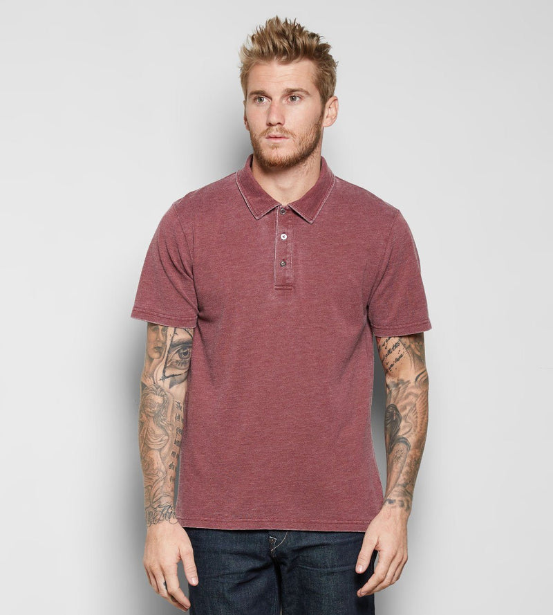 Blake Polo Mens Tops Threads 4 Thought s Oxblood