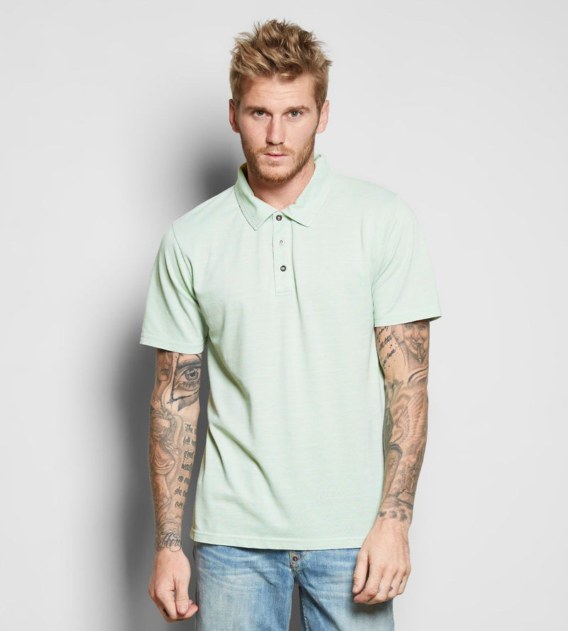 Blake Polo Mens Tops Threads 4 Thought s Seafoam