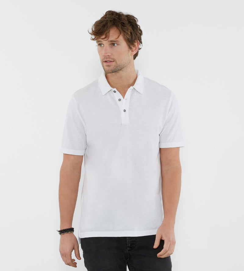 Blake Polo Mens Tops Threads 4 Thought s White
