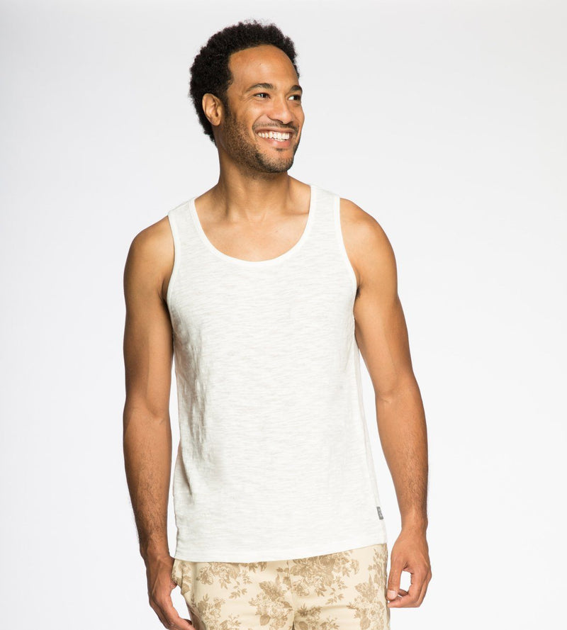 Baseline Tank Mens Tops Threads 4 Thought s White