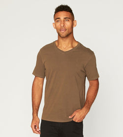 Standard V Neck Tee Mens Tops Threads 4 Thought s Beech