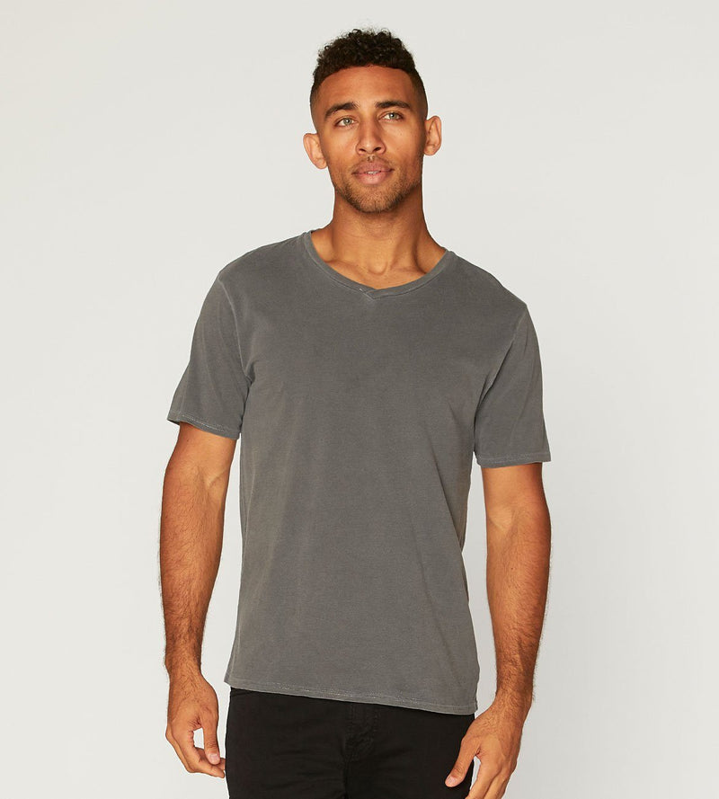 Standard V Neck Tee Mens Tops Threads 4 Thought s Quiet Shade