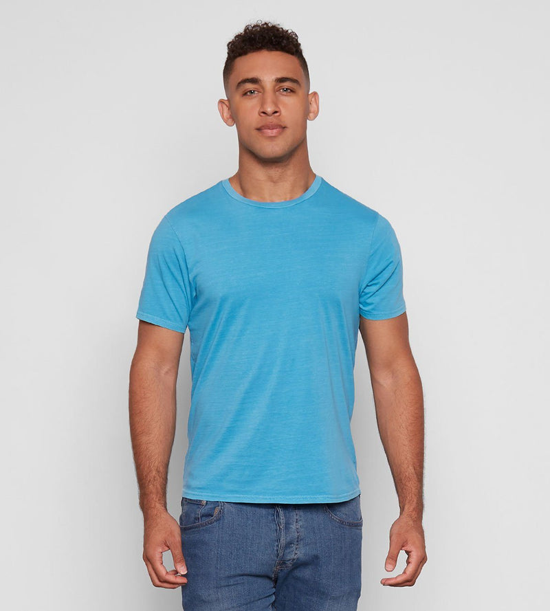 Standard Crew Neck Tee Mens Tops Threads 4 Thought s Aqua