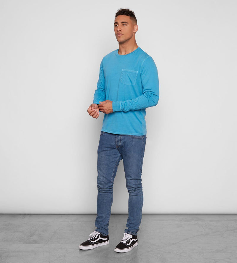 Standard L/S Pocket Tee Mens Tops Threads 4 Thought