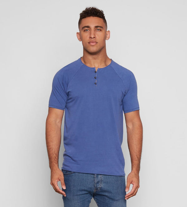 Standard S/S Henley Mens Tops Threads 4 Thought s Deep Navy