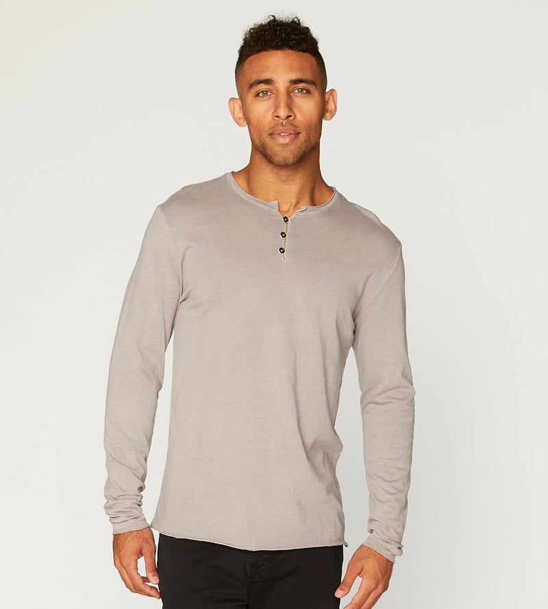 Standard L/S Henley Mens Tops Threads 4 Thought s Ashes Of Roses