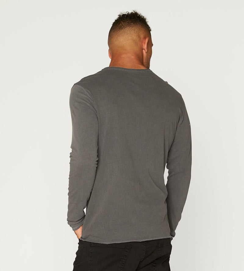 Standard L/S Henley Mens Tops Threads 4 Thought