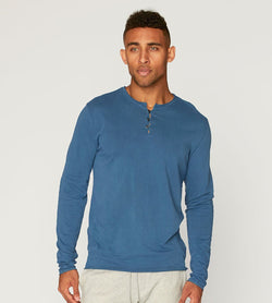 Standard L/S Henley Mens Tops Threads 4 Thought s Reflecting Pond