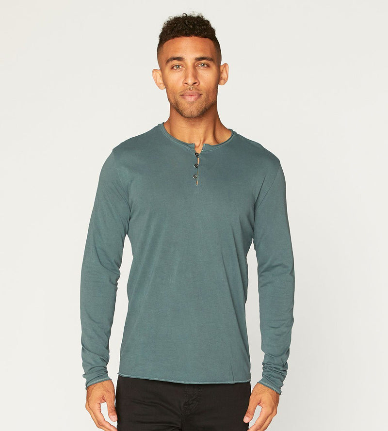 Standard L/S Henley Mens Tops Threads 4 Thought s Rosin