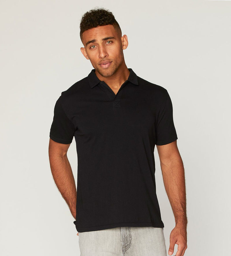 Dune Polo Mens Tops Threads 4 Thought s Black