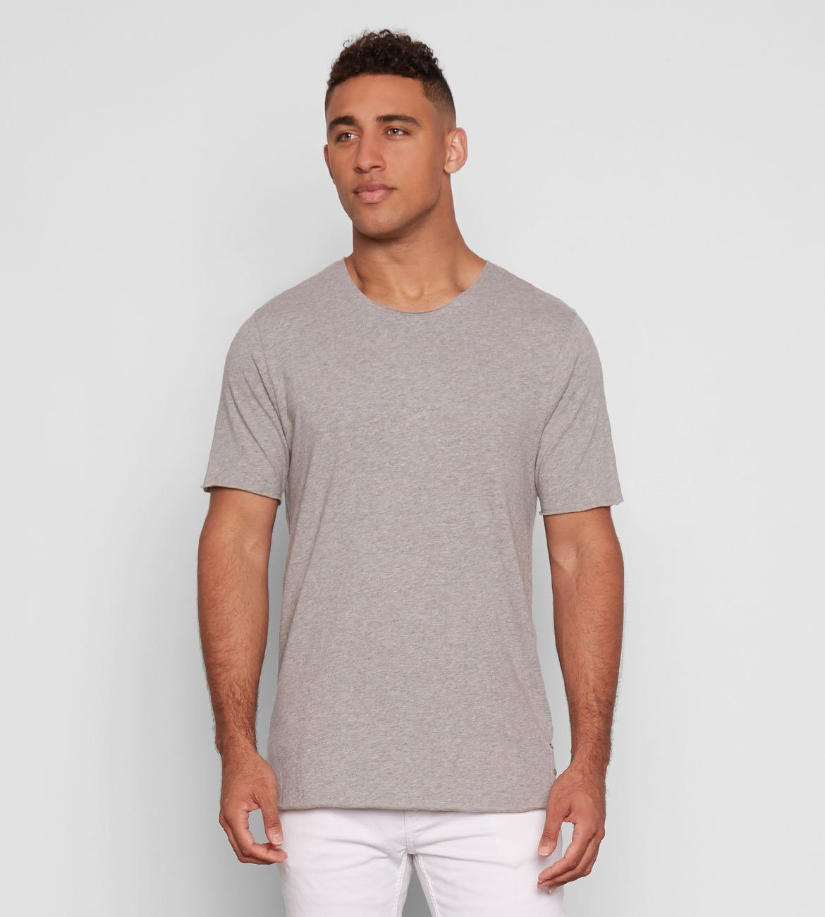 Miles Tee Mens Tops Threads 4 Thought S Marled Grey