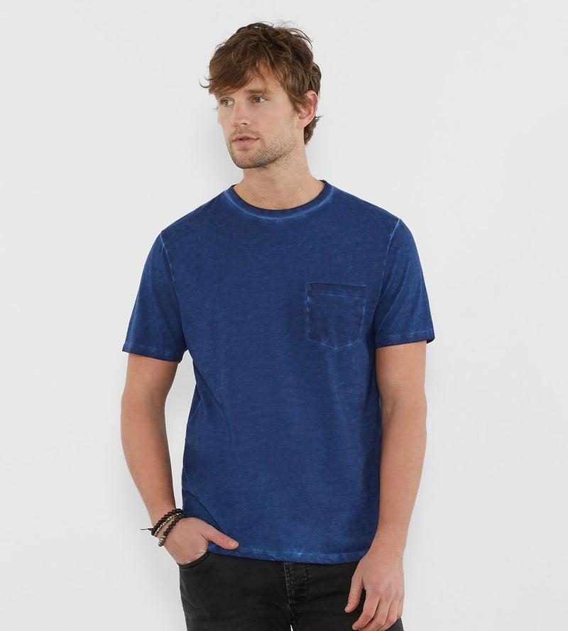 Rainwash Pocket Crew Mens Tops Threads 4 Thought s Deep Navy