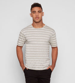 BARRETT TEE Mens Tops Threads 4 Thought s Glacier