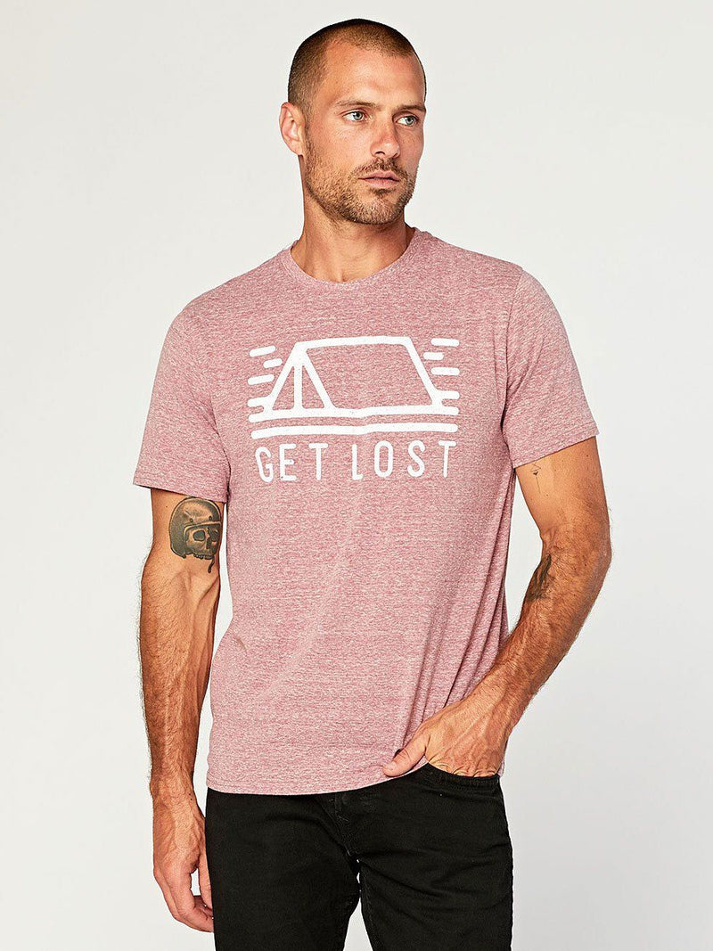 Get Lost Tee Mens Tops Threads 4 Thought S Brick Red