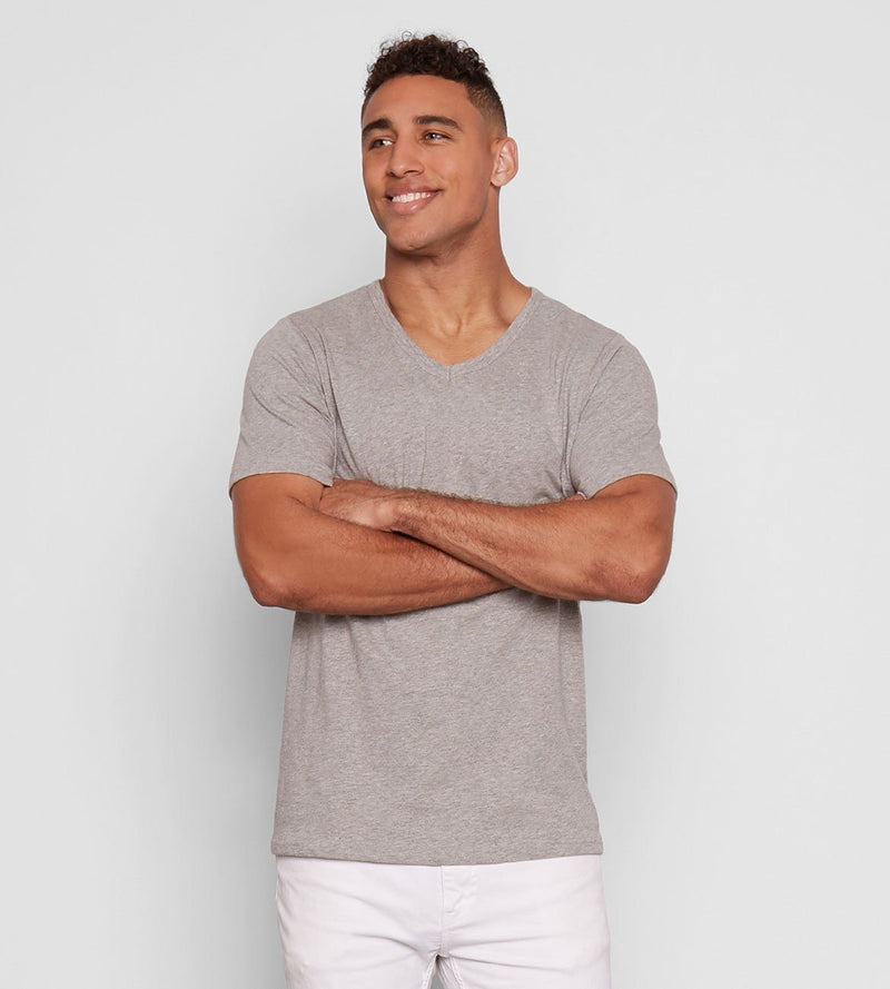 ROBERT V NECK Mens Tops Threads 4 Thought s Marled Grey