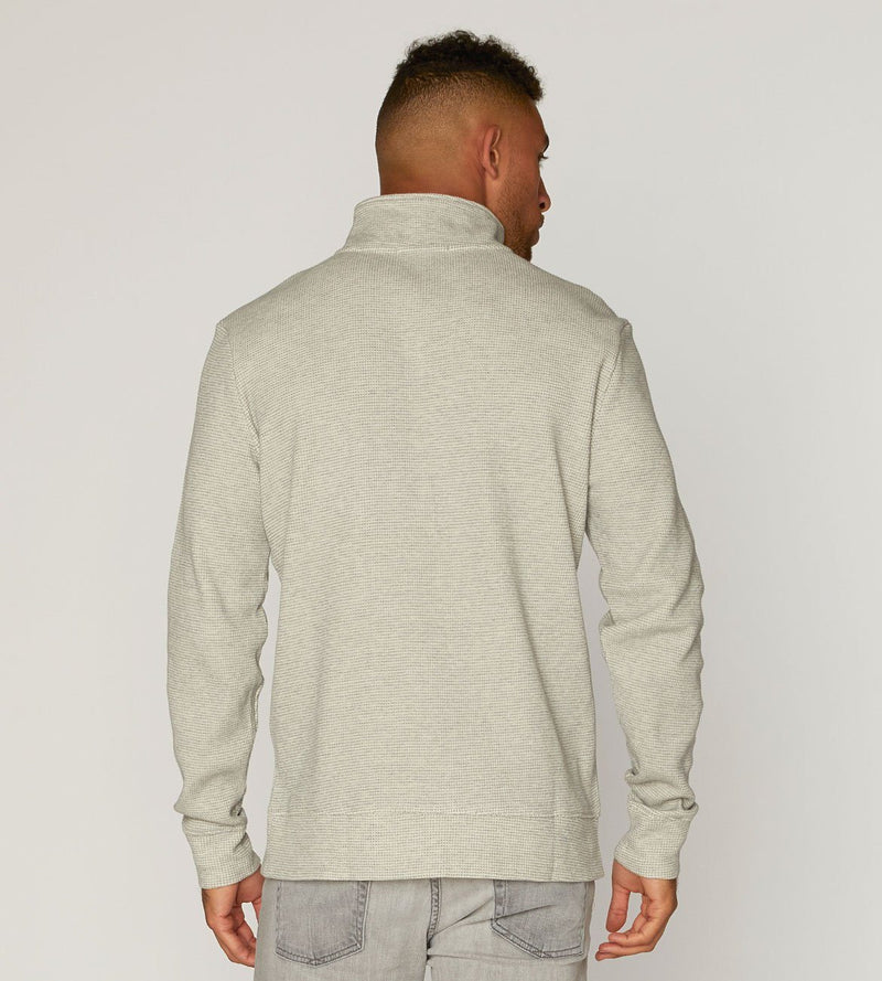 Heather Grey Chad Thermal Quarter Zip