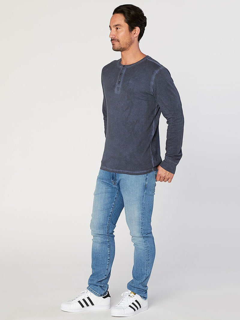 Knox Rainwash Henley Mens Tops Threads 4 Thought