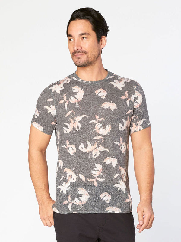 Falling Lilies Tee Mens Tops Threads 4 Thought s Falling Lilies Print