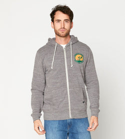 Joshua Tree Zip Hoodie Mens Outerwear Sweatshirt Threads 4 Thought s Heather Gray