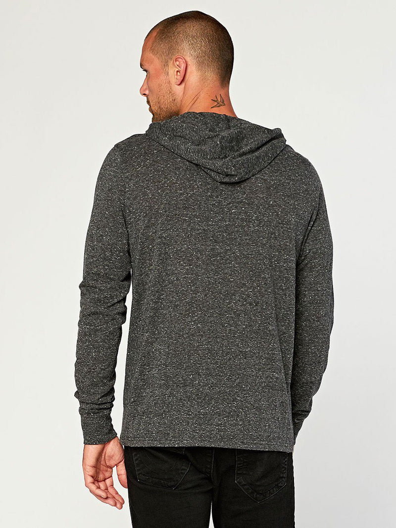 2 Button Hooded Pullover Henley Mens Tops Threads 4 Thought