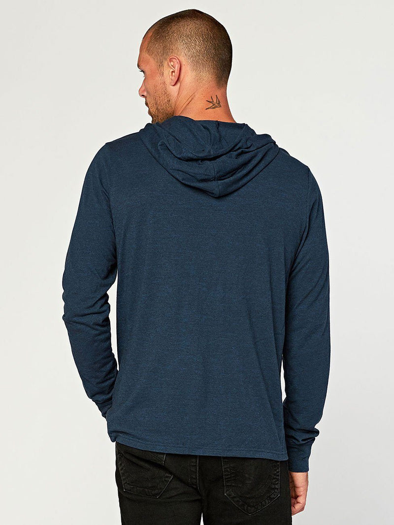 2 Button Hooded Pullover Henley